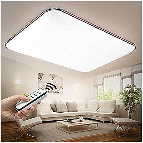 MingLu Teléfono móvil APP control remoto LED lámpara de techo pared lámpara techo color marrón claro de cálido blanco frío blanco neutro blanco control remoto completamente regulable cromo (925 mm * 650 m m / 90W)