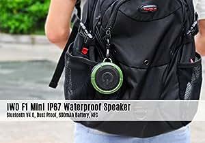 IWO F1 - Mini enceinte étanche IP67 - Bluetooth V4.0 / NFC / Batterie 600mAh / Résistant à la poussière / Vert