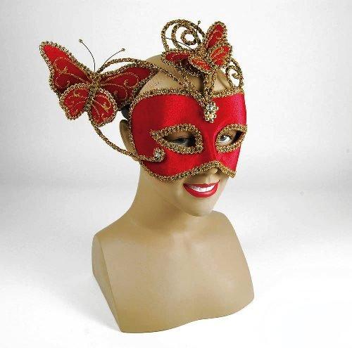 Parties Unwrapped Schmetterling Eye Maske Mardi Gras Maskenball-Rot