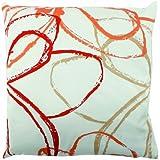 Home Fashion 66964-177 Zaira - Funda para cojín, fabricada en tela, 50 x 50 cm, color naranja