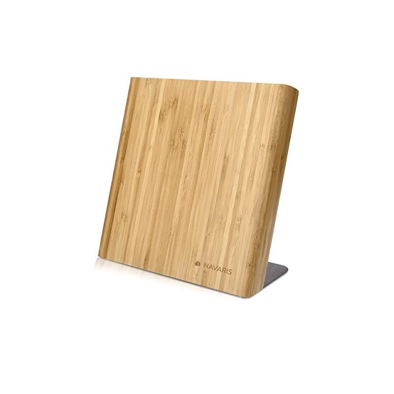 Navaris Messerhalter Magnetisch Messerbrett Aus Bambus Magnet Messerblock Holz Magnethalter Magnet Messerblock Messer Halterung Unbestckt Braun