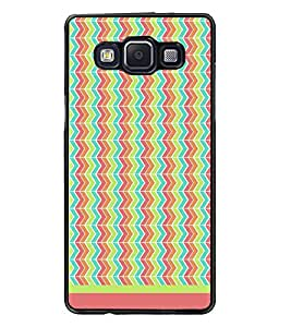 PrintDhaba Zig Zag Pattern D-1701 Back Case Cover for SAMSUNG GALAXY E5 (Multi-Coloured)