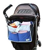 FakeFace Multi-funtional Nylon Zipper Travel Handbag Pouch / Baby Stroller Pram Pushchair Hanging Storage / Bag in Bag / Insert Organizer / Cosmetic Toiletry Bag Pocket / Makeup Bag / Tidy Bag Blue by Fakeface