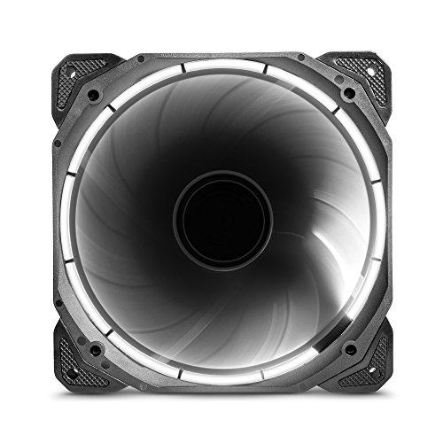 anidees AI Halo Nebula White 140mm hoher Luftstrom LED Gehäuselüfter for PC Case CPU-Kühler und Radiator- Weiß
