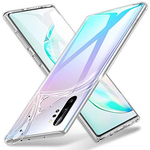 ESR Hülle kompatibel mit Samsung Galaxy Note 10 Plus - Weiche Flexible Silikon Handyhülle - Zero TPU Transparente Schutzhülle mit Kameraschutz & Mikrodot Muster für Galaxy Note 10+/5G - Klar