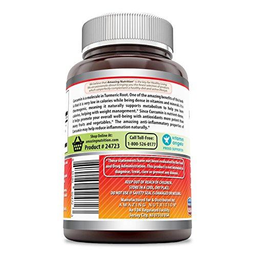 Amazing Nutrition- Curcumin 700 Mg (Curcumin Extract 95% 665 mg) 120 Vcaps