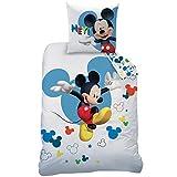 Disney Paris, 100% Baumwolle, Weiß, 140 x 200 + 63 x 63 cm