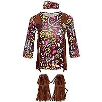 MagiDeal Set de Disfraz Zapatos Diadema de Niñas Paz Amor Bohemio Hippie  60s Disco Dolly - 754c2780663