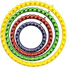 Set 4 Piezas Telar Circular Plástico Fuerte por Curtzy - 4 Tamaños Incluyen 14cm, 19cm, 24cm, 29cm - Perfecto para Tejedores Principiantes y Profesionales con Instrucciones