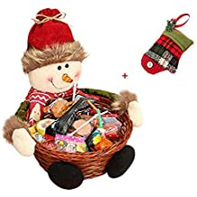 Cesta de almacenaje para Navidad de Keepwin, para caramelos o decoración, diseño de Papá