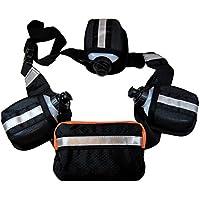 Laufgürtel inkl. 3 x 0,17L Trinkflaschen Audio Tasche Laufgürtel Jogginggürtel