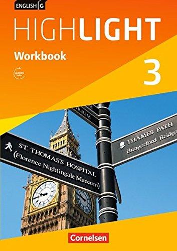 Preisvergleich Produktbild English G Highlight - Hauptschule / Band 3: 7. Schuljahr - Workbook mit Audio-Materialien