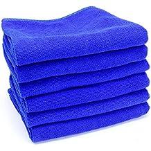 """Kicode 5pcs Grande pulizia a microfibra Auto Detailing Panno morbide lavare asciugamano da pulire Blu 12 * 12"""""""