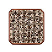 Carpet Liucuifang Cushion office cushion car seat summer seat cushion without backrest four seasons universal wood beads single piece (Color : BROWN, Size : 45CM*45CM*5CM)