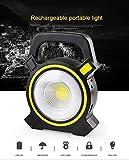Solar Strahler Solarleuchten Solarlampe Außen 60 Verbesserte LED für Hohe Helligkeit mit 4000mAh Batterie Solarpanel Licht Gesteuert IP66 Wasserdicht, Solarbetriebene Außenleuchte für Rasen, Garten, Straße und Garage [Energieklasse A+++]