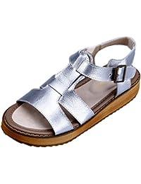 Shenn Mujer Moda Zapatillas Atada Remaches Blanco Cuero Entrenadores Zapatos EU37 4jDS9ZLtaK