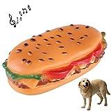 zhou-Haustier, Hamburger Form Quietschen Haustier Spielzeug