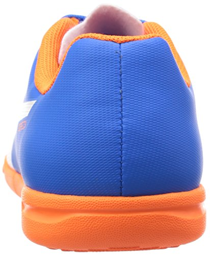 Puma Evospeed 5.4 It Jr, Chaussures Multisport Indoor mixte enfant Bleu - Blau (electric blue lemonade-white-orange clown fish 03)