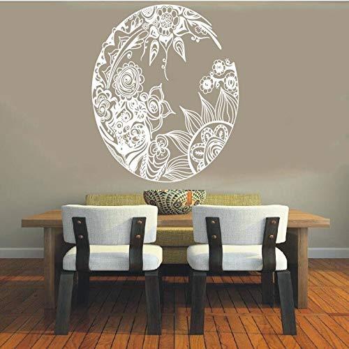 xingbu Vinyl Aufkleber Mandala Sanskrit Kreis Spirituelles Symbol Hinduismus DIY 42x51cm