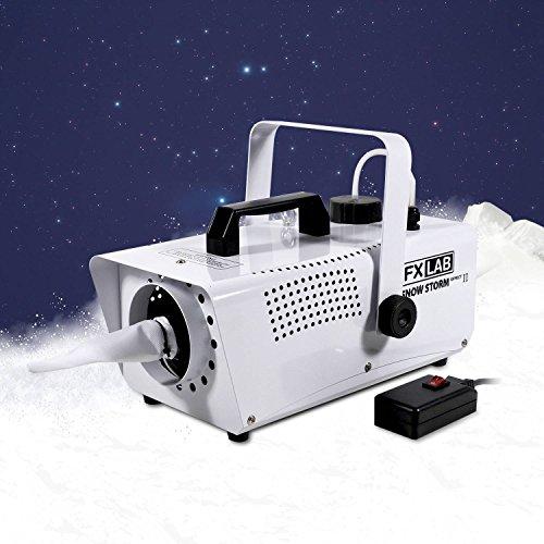 Máquina de nieve artificial efecto de tormenta de nieve + mando a distancia