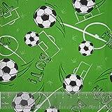 JUNOPAX 50m x 0,20m Papier Tischband Fußball | nass- und wischfest - 2