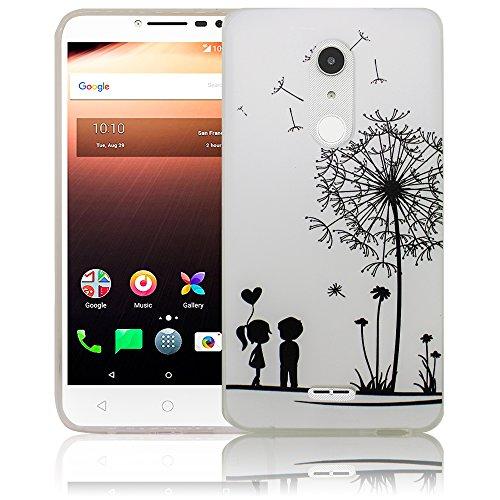 thematys Alcatel A3 XL Pusteblume Silikon Schutz-Hülle weiche Tasche Cover Case Bumper Etui Flip Smartphone Handy Backcover Schutzhülle Handyhülle