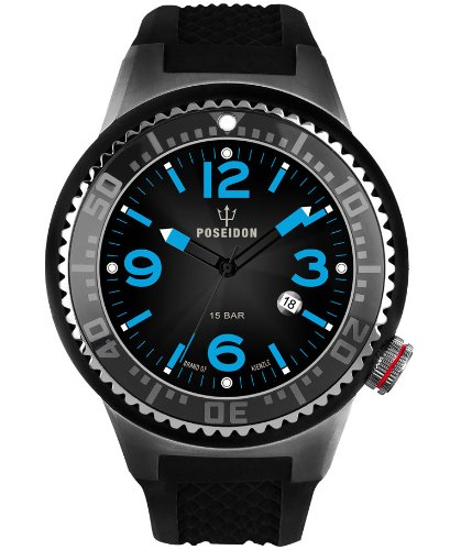 Kienzle Men's Quartz Watch POSEIDON XL Slim K2031053273-00390 with Rubber Strap