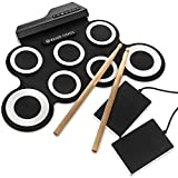 Neue elektronische Drum 7Pad Tragbare Rolle bis Drum Pad Kits faltbar Musical Praxis instrument- 5voreingestellte Tones, 8Demo Songs und 3RHYTHMEN–2Drum Stick enthalten