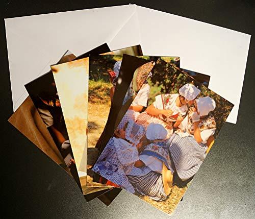 (Set mit 6 Postkarten, Format 12 x 17 cm, mit Umschlägen: Kostüme des Süden de Gilles Martin-Raget)