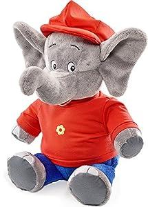 Schmidt Spiele 42251 Elefante Felpa Azul, Gris, Rojo Juguete de Peluche - Juguetes de Peluche (Elefante, Azul, Gris, Rojo, Felpa, Benjamin Blümchen, 200 g, 1 Pieza(s))