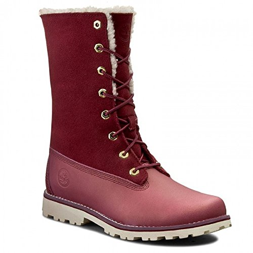 Timberland - 6 in WP Shearing Boots - A1BXD - Color  Burgundy - Size  4 0