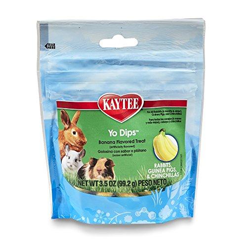 KAYTEE Fiesta Banana Geschmack Joghurt getaucht Leckereien für Kaninchen, Meerschweinchen und Chinchillas, 3.5-oz Tasche (Pellet Behandelt)