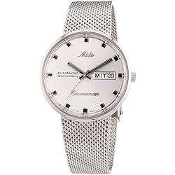 MIDO Commander M842942111 - Reloj de caballero automático, correa de acero inoxidable color plata