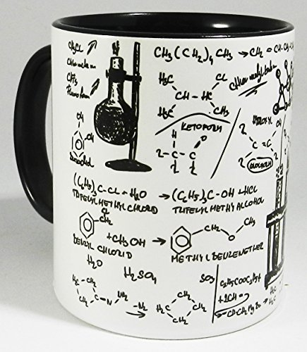 The Organic Chemistry Laboratory Becher with glazed black handle and inner from Half a Donkey