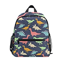 ISAOA 3D Printed Cute Dinosaur Kids Backpacks Kindergarten Preschool Toddler Boys/Girls Bookbag Cute Schoolbags for Age 2-8 Child