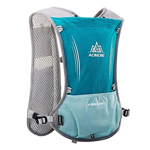 Imagen de aonijie upgrade hidratación ciclismo chaleco reflectante marathoner pack  con vejiga 2l agua deporte al aire libre carrera, azul claro alternativa