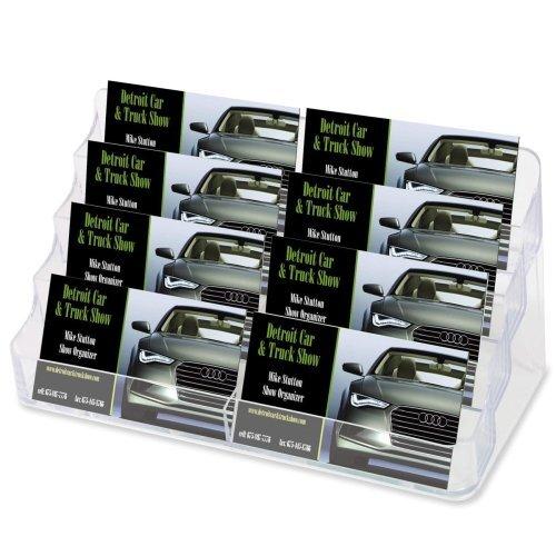 Großhandel von Fall von 20-Deflect-O Desktop klar Business Card holder-desktop Visitenkartenhalter, 8Comp, 20,3cm X3-3/10,2cm X3-7/20,3cm klar