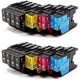 20 Cartouches compatibles pour Brother LC1220 LC1240 / 8x LC1240BK + 4x LC1240C + 4x LC1240M + 4x LC1240Y pour Brother MFC-J280W, MFC-J425W, MFC-J430W, MFC-J435W, MFC-J5910DW, MFC-J625DW, MFC-J6510DW, MFC-J6710DW, MFC-J6910DW, MFC-J825DW, MFC-J835DW, DCP-J525W, DCP-J725DW, DCP-J925DW