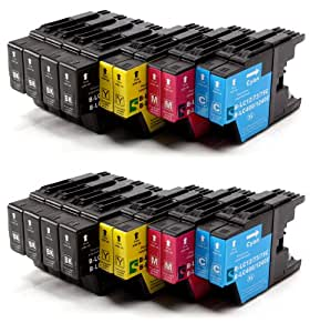 20 compatible Ink Cartridges to Brother LC1220 LC1240 / 8x LC1240BK + 4x LC1240C + 4x LC1240M + 4x LC1240Y