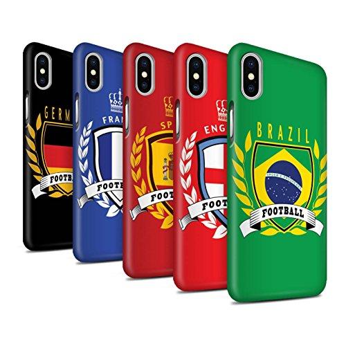 STUFF4 Matte Snap-On Hülle / Case für Apple iPhone X/10 / Schottland/Scottish Muster / Fußball-Emblem Kollektion Pack 8pcs