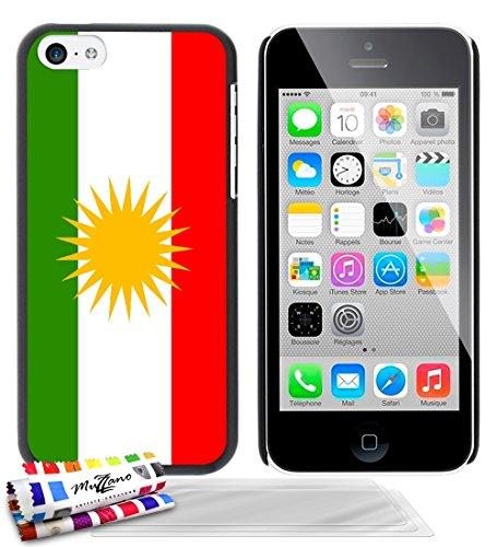 Ultraflache weiche Schutzhülle APPLE IPHONE 5C [Flagge Kurdistan] [Gelb] von MUZZANO + STIFT und MICROFASERTUCH MUZZANO® GRATIS - Das ULTIMATIVE, ELEGANTE UND LANGLEBIGE Schutz-Case für Ihr APPLE IPHO Schwarz + 3 Displayschutzfolien
