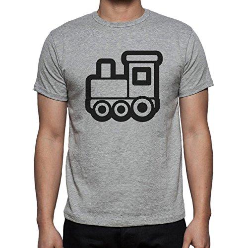 Car Vehicle Four Wheels Auto Train Logo Herren T-Shirt Grau