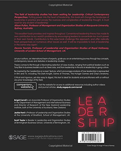 Leadership: Contemporary Critical Perspectives