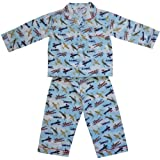 100% Cotton Pyjamas - Powell Craft - Douglas - Spitfire Vintage Aeroplanes - 2-3 years