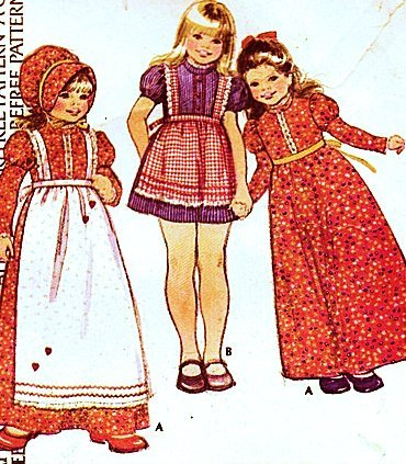 McCall's 4286 Girls Dress, Apron and Bonnet Vintage Sewing Pattern by McCall's