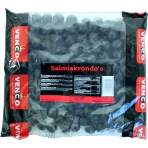 Venco Holland Lakritze 'Salmiakrondo's' 1 kg Packung (Salmiak-Kugeln)