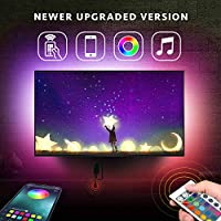 Nexillumi LED Lights for TV Backlight USB Powered for 32 Inch-60 Inch TV,Color Changing LED Strip Lights with Remote APP Control,Mirror,PC,Sync to Music, 5050 RGB LED Lights for Android iOS
