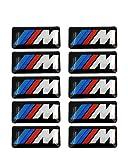 10x Auto Aufkleber für BMW M3 M5 M6 E46 E36 E60 Felgen Grill 3D Car Sticker Neu