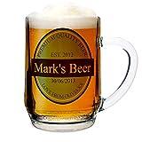 Jarra de cerveza etiqueta personalizada