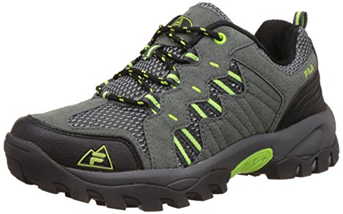 Fila Men's Squat Grey, Black and Green Trekking and Hiking Footwear Shoes -9 UK/India (43 EU)
